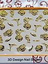 auto adhensive art de la mode des ongles autocollants avec motif de rose cadeau décent