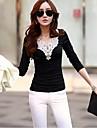 Women's Fashion Lace V Neck Long Sleeve Base Shirts