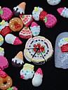 100pcs résine de peinture 3d art gâteau de décoration des ongles