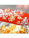 12st mode glittrande guld och silver folie nagel konst dekoration