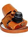 Digital Kamera-Fodral- tillOlympus-En-axel- medDammsäker-Svart Kaffe Brun