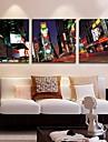 Imprimeu pânză întins Peisaj Arhitectură Trei Panouri Pătrat Imprimeu Decor de perete Pagina de decorare