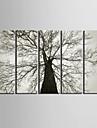 Imprimeu pânză întins Set Canava Floral/Botanic Modern, Cinci Panouri pânză Orizontal Imprimeu Decor de perete Pagina de decorare