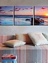 Prelata Print Lungită Peisaj Modern / Tradițional,Trei Panouri Canava Orizontal print Arta Decor de perete For Pagina de decorare
