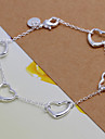 vilin kvinnors silver hjärta armband klassisk feminin stil