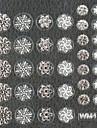 3d falska nail art klistermärken dekaler spik tillbehör jul silver snöflinga för spik tips diy nail art dekorationer