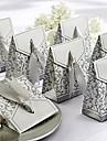 cutie cu panglică de argint în favoarea (set de 12)