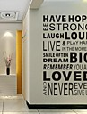 Wall Stickers Wall Decals, Family Word Saying Dictum PVC Wall Stickers