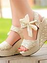 Pânză pentru femei Wedge toc deschise sandale Pantofi (Mai multe culori)