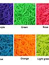 600pcs curcubeu bandă război de țesut război de țesut de culoare modă fluorescent (clip 1package s, culori asortate)