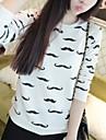 Women's Leisure Coat Artwork Design Moustache Sweatshirt