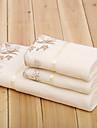 Style frais Ensemble de serviette de bain, Couleur Pleine Qualite superieure 100% Microfibre Serviette Serviette de bain Essuie-mains