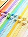 2 x 90 buc culori fluorescente materiale origami stea norocoasă (de culoare aleatorii)