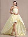 Teacă / coloană înalt gât asimetric șifon tul rochie de seară cu beading de ts couture®