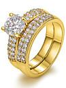 Dame Inele Afirmatoare European costum de bijuterii Zirconiu Articole de ceramică 18K de aur Diamante Artificiale Bijuterii Pentru