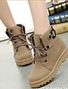 femei cizme pantofi de moda rotunde cizme in picioare pană toc glezna mai multe culori disponibile