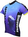 ILPALADINO Homme Manches Courtes Maillot de Cyclisme Bande dessinee / Animal Velo Maillot, Sechage rapide, Resistant aux ultraviolets,