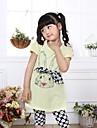 vară 100% bumbac seturi elastice pentru fetițe, (haine + pantaloni)