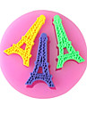 Paris turn de copt tort bomboane fondante choclate mucegai, l7cm * w6.9cm * h0.7cm sm-256