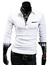 lesen bărbați rever stil coreean rever personalitate manșetă slim casual, cu maneca lunga t-shirt o