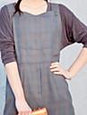 högkvalitativ boucle fyrkantig krage kjol grå