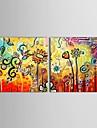 Pictat manual Floral/Botanic Două Panouri Canava Hang-pictate pictură în ulei For Pagina de decorare