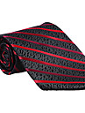 negru&roșu cravată cu dungi