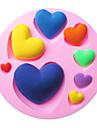 en forme de coeur fondant de cuisson gâteau choclate bonbons moule, l7.8cm * w7.8cm * h1.2cm