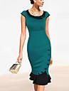 moda guler rotund ocazional rochie coadă de pește Monta femei