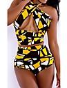 Pentru femei Poliester Nailon Fără Întăritură Cu Susținere Bustieră,Bikini Talie Înaltă Floral Bloc Culoare