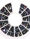 formats mixtes noir ab strass acryliques de cristal de nail art pailleté bijoux d'ongle pour la conception des ongles bricolage