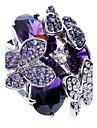 Inele Afirmatoare Zirconiu Zirconiu Cubic imitație de diamant Aliaj La modă Mov Bijuterii Petrecere 1 buc