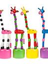 färgglada söta trä giraff iq spel intelligent hjärngymnastik baby leksak (slumpvis färg)