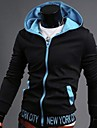 Hoodies & Bluze ( Bumbac )de A bărbaților - Informal/Muncă/Sport - Pur - Mânecă Lungă