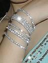Bărbați Pentru femei Pentru cupluri Brățări cu Lanț & Legături Brățară de Mireasă Bijuterii Statement costum de bijuterii Diamante