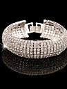 Pentru femei În Straturi Brățări cu Lanț & Legături - Zirconiu Cubic, Ștras, Diamante Artificiale Design Unic, Vintage, Petrecere Brățări Auriu / Argintiu Pentru Nuntă / Aniversare / Cadou
