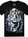 o-gât vară tigru 3d animale barbati imprimat cu maneci scurte t-shirt