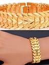 Pentru femei Brățări cu Lanț & Legături Personalizat Lux Clasic Iubire Zirconiu Placat cu platină Placat Auriu Aliaj Bijuterii Inimă