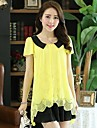 CoCo Zhang All Match Contrast Color Loose Blouse