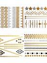 Tatueringsklistermärken - Mönster - Smyckeserier - till Dam/Girl/Vuxen/Tonåring - Brun - Papper - #(8) - styck #(23x15.5)