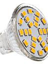 230 lm GU4(MR11) LED-spotlights 24 lysdioder SMD 2835 Varmvit Kallvit AC 12V
