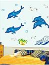 Wall Stickers väggdekaler, lysande delfin pvc väggdekorationer