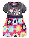 Rochii pentru copii fete floral rochie rochie de vară pentru fete copii rochii (imprimat aleator)