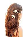 shixin® europeiska sjöstjärnor form vita Cowry barrettes för kvinnor (ramdon storlek) (1 st)