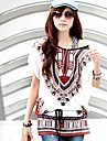 Femei În X Tricou Casul/Zilnic Simplu(ă),Imprimeu Manșon scurt Primăvară / Vară Mediu