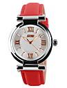 SKMEI Pentru femei Quartz Quartz Japonez Ceas de Mână Ceas Casual Piele Bandă Charm Casual Modă Negru Alb Albastru Roșu Pink