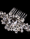 Alloy Hair Combs With Rhinestone Wedding/Party Headpiece Elegant Style