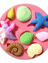 stea de mare melc scoică coajă fondantă de matrite tort de ciocolată mucegai pentru bucatarie copt pentru bomboane de zahăr