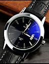 Bărbați Ceas de Mână Quartz Calendar PU Bandă Negru Negru