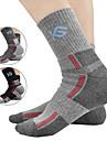 CoolChange Chaussettes Hiver Respirable Limite les Bacteries Camping / Randonnee Escalade Cyclisme / Velo Moto Homme Coton Coolmax® Mode